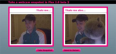 Take a webcam snapshot in Flex 2.0