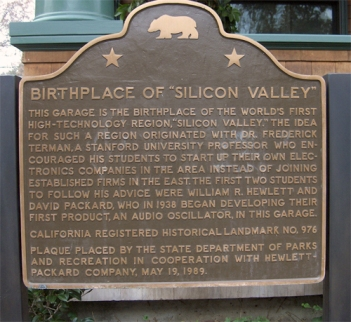 BIRTHPLACE OF SILICON VALLEY